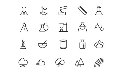 Science Line Icons 6