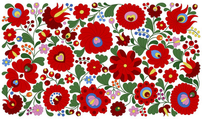 Hungarian embroidery pattern for pillows