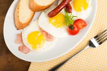 Breakfast, bacon, english.