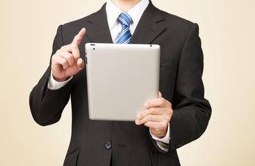ビジネスイメージ ボディパーツ タブレット使用