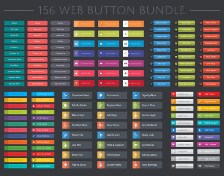 156 web button collection