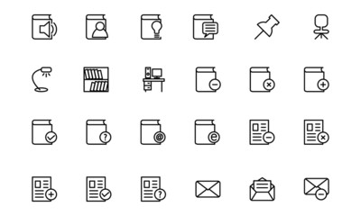 Education Line Icons 7