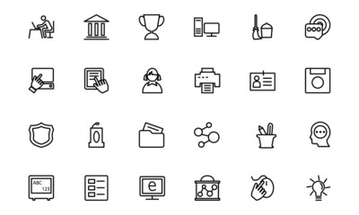 Education Line Icons 4