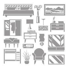 Bedroom Furniture Grey Set