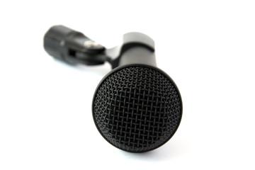 Black dynamic stage microphone