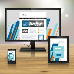 Corporate template design with applications