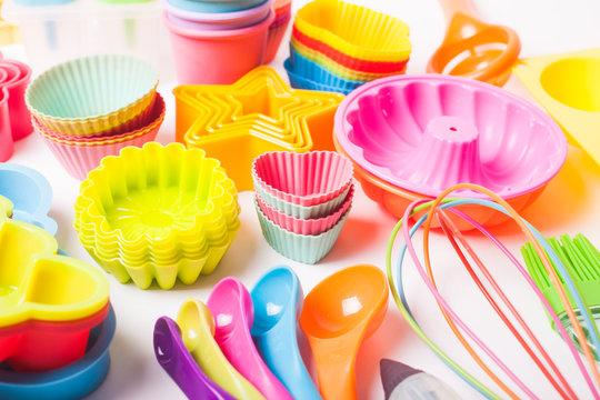 Rainbow silicone confectionery untersils