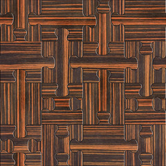 Wooden puzzles assembled for seamless background - Ebony wood