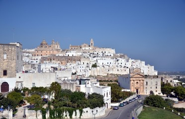 View of the center of Ostuni, Puglia, Italia