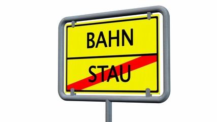 Bahn / Stau Schild isoliert