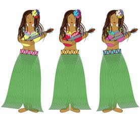 Hawaiian hula girls