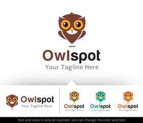 Owl Spot Logo Design or Icon