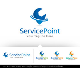 Service Point Logo Design or icon Design