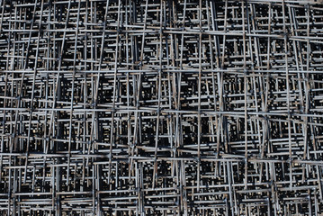 stack of rebar grids