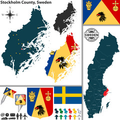 Map of Stockholm County, Sweden