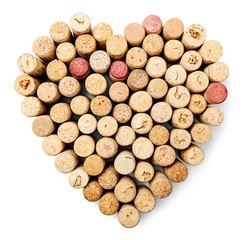Cork, Wine, Heart Shape.