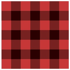 Red Black checkered tablecloths pattern