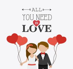 Wedding card design.