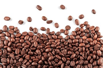 White, espresso, background.