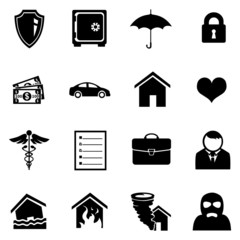 Vector Set of Insurance Icons