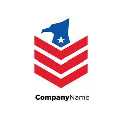 America USA logo icon vector