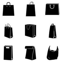 Vector Set of Shopping Bags Icons