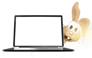 Easter Bunny laptop