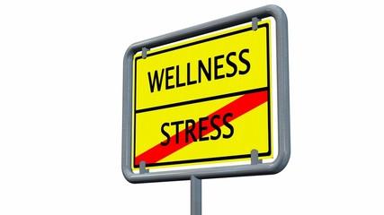 Wellness / Stress - Schild