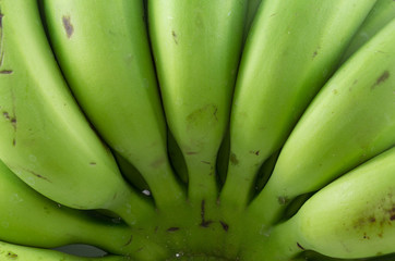 Raw banana in isolate background.