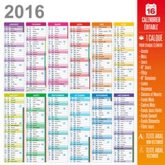 Calendrier 2016 - Multicalques