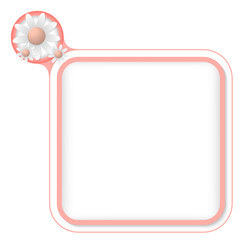 Colored frame for your text and flowers