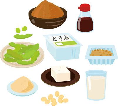 大豆を使った食品