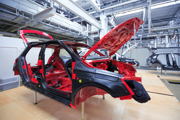 auto body at car plant