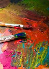 Palette, Painter, Paintbrush.