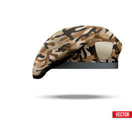 Military Camo Beret Special Forces