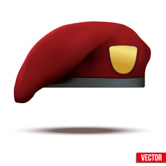 maroon Military Red Beret Army Special Forces
