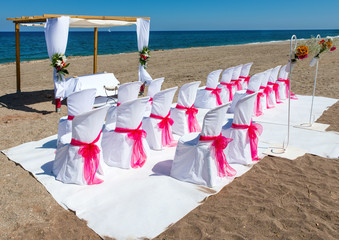Wedding Venue on the Beach at Mojacar Almeria Province, Andalusia, Spain