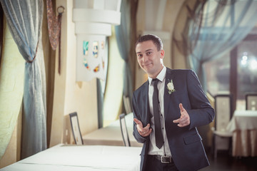 Cheerful groom