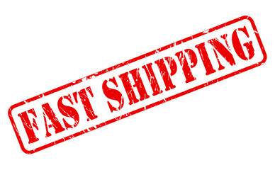Fast shipping red stamp text