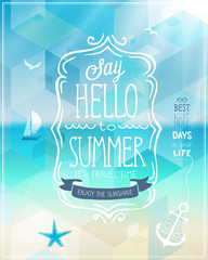 Wall Mural - Hello summer poster.