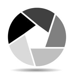 Camera shutter icon vector illustration