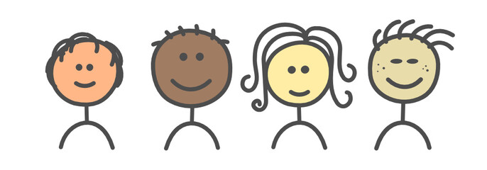 Kinder Herkunft Hautfarbe