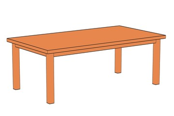 2d cartoon image of table
