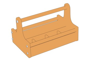 2d cartoon image of toolbox