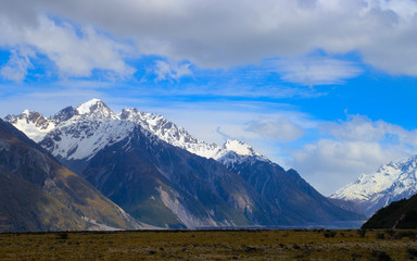 Foto op Plexiglas Bergen Snow Mount Cook in Summer