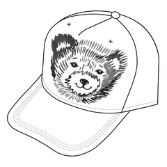 Bear's smiling snout logo on the cap