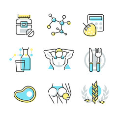 Nutrition and Health Care Icons