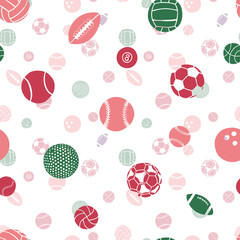 seamless pattern: sports balls