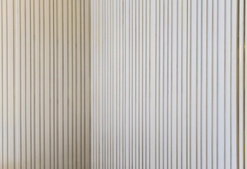 White lined wall in corner