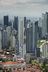 Aerial shot of Panama city skyline,Panama, Central America